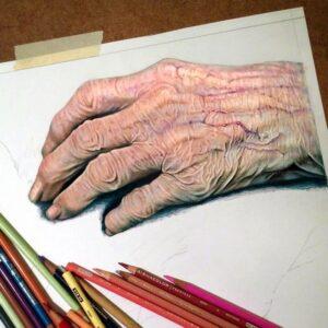 نقاشی دست با مداد رنگی؛ هنرمند: Morgan Davidson