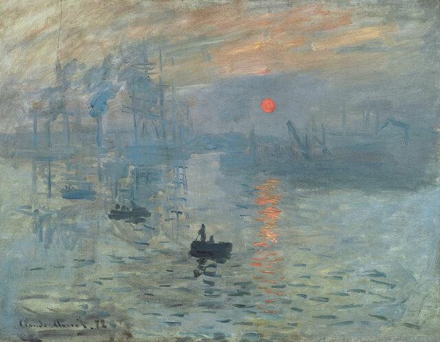 «طلوع» (۱۸۷۲) اثر «کلود مونه»