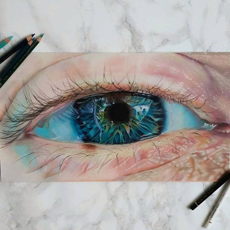 نقاشی چشم انسان