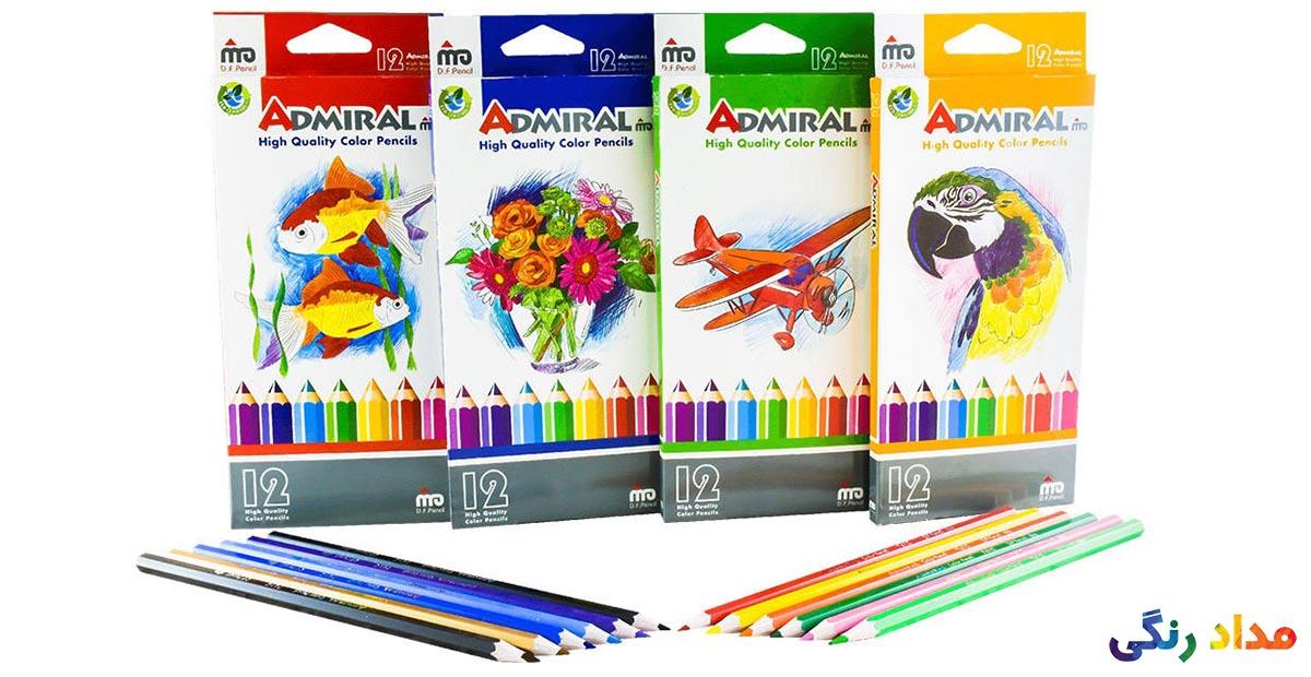 مداد رنگی 12 رنگ آدمیرال مدل MDF