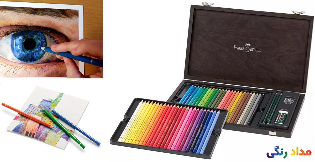 مداد رنگی 48 رنگ فابر-کاستل مدل Polychromos
