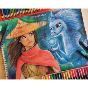 نقاشی رایا و سیسو از فیلم رایا و آخرین اژدها