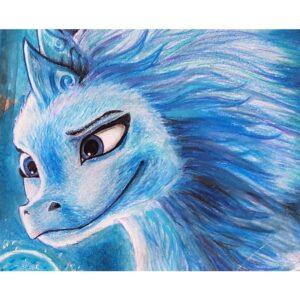 نقاشی سیسو از فیلم رایا و آخرین اژدها
