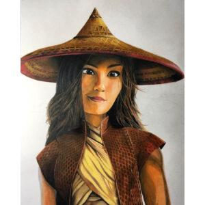 نقاشی رایا از فیلم رایا و آخرین اژدها